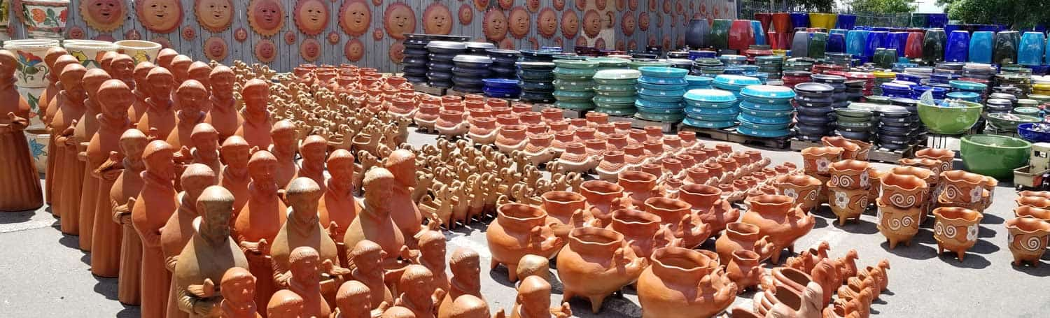 Wide-pottery